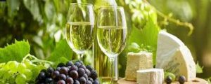 Grapes and wine with beautiful background