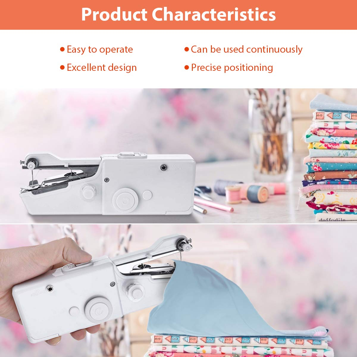 Electric portable sewing machine