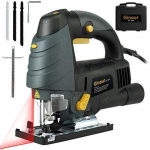 saw with Laser Guide & LED, 6-level Variable Speed